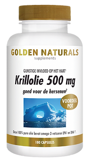 _Golden Naturals Krillolie 500 mg 180 ca