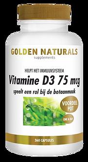 _Golden Naturals Vitamine D3 75 mcg 360
