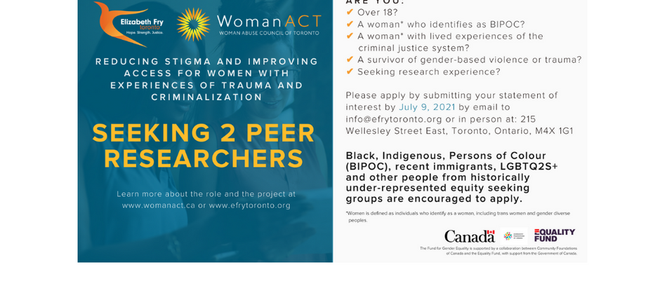Reducing Stigma and Improving Access to Women with Experiences of Trauma and Criminalization