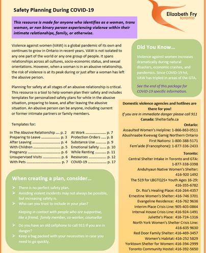 COVID-19 Safety Planning Handbook