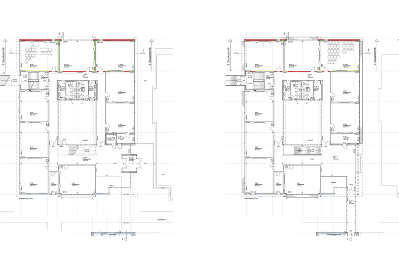 Grundrisse Erweiterung Erd- und Obergeschoss