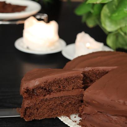Devil's cake VEGAN | Torta doppio cioccolato con ganache
