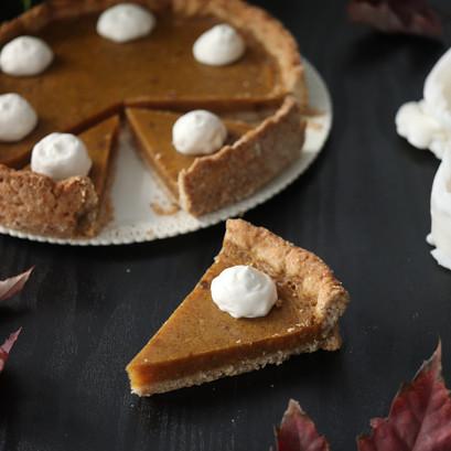 Pumpkin pie | Torta di zucca senza uova e senza latte