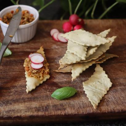 Crackers al basilico SENZA lievito
