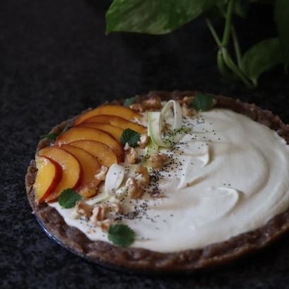Cheesecake zucchine&pesche VEGAN