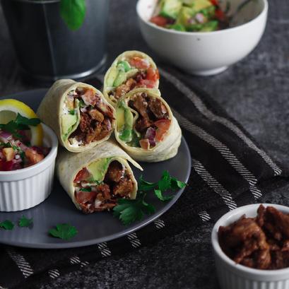 Burrito con straccetti di seitan