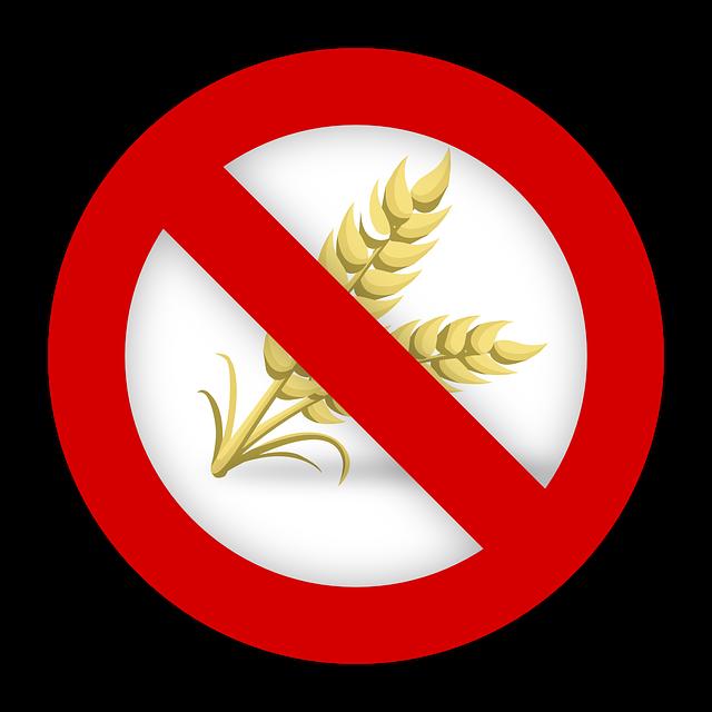 Gluten Free - Sin gluten símbolo para celíacos