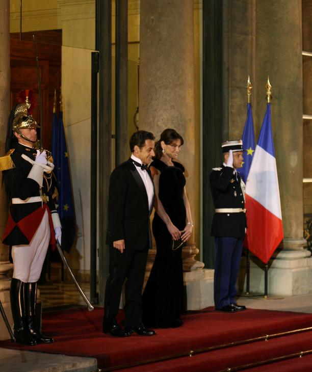 M. Sarkozy et Mme Bruni- Sarkozy
