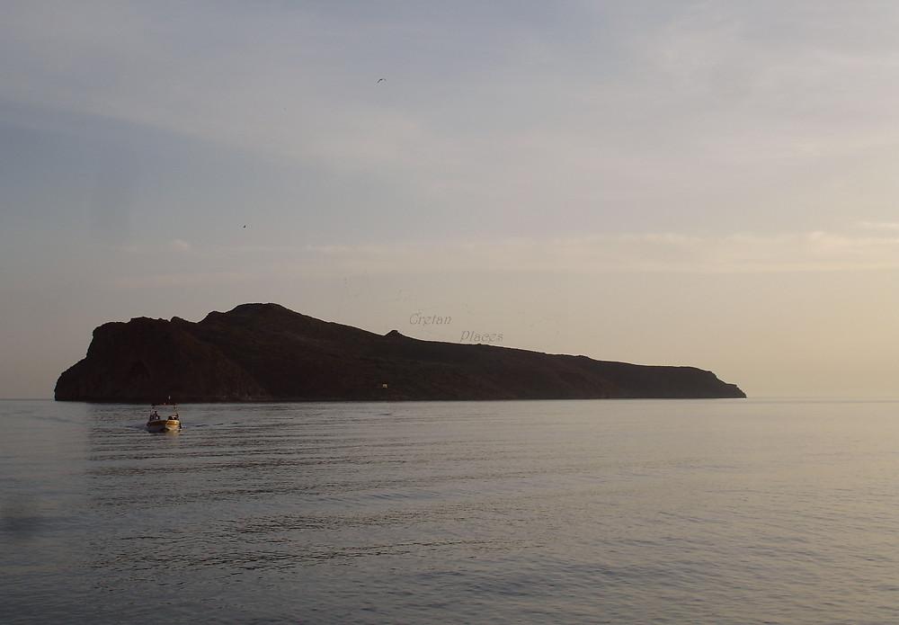 Getting to Thodorou isle, June 2009