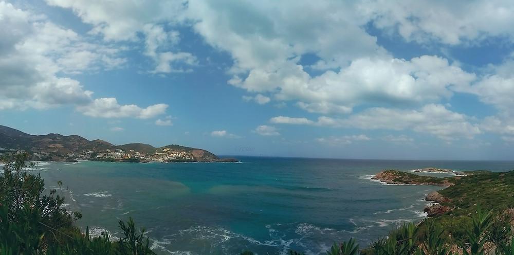 Bali, Rethymnon, Crete, Greece, windy day, September 2019
