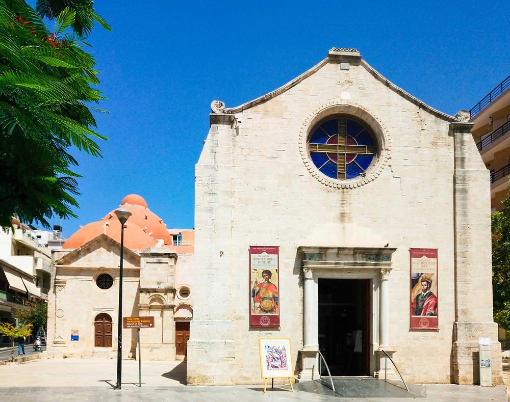 Museum of Christian art, St. Catherine of Sinai, Venetian monument, Greek-orthodox church, Byzantine art, Heraklion, Greece, Crete