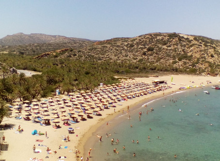 Vai beach and palm forest: tropical aspect of the Cretan landscape and top destination