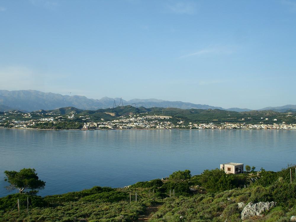 The north coast at the area of Chania, Agia Marina, and White Mountains (Lefka Ori)