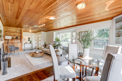 Living Room Wood Ceiling