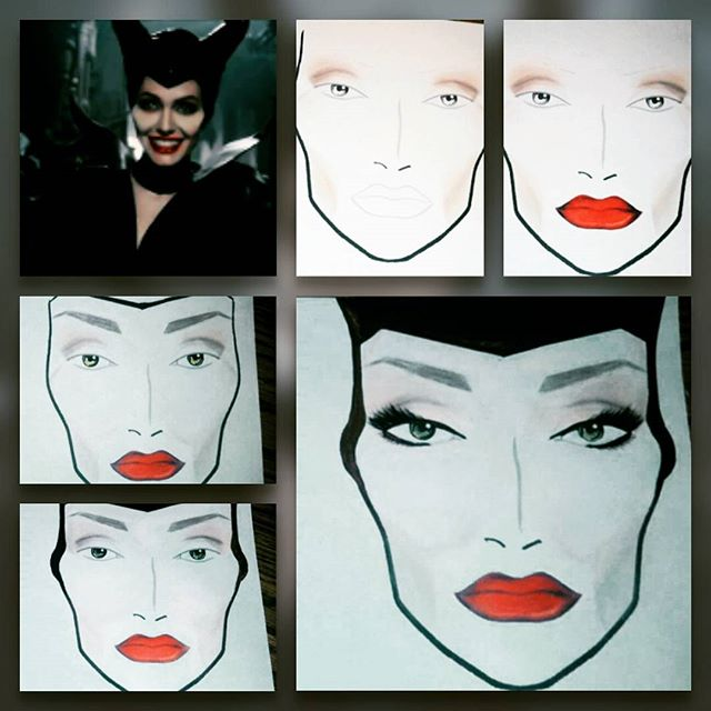 Maleficent Face Chart
