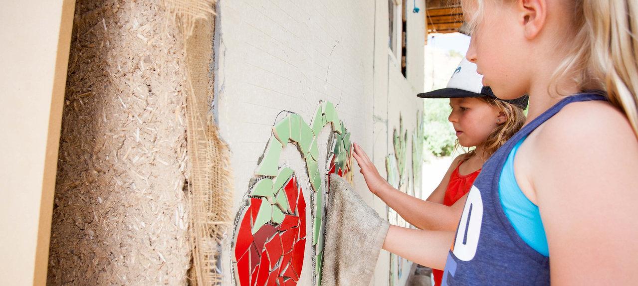 Assembling a Veggie Mural