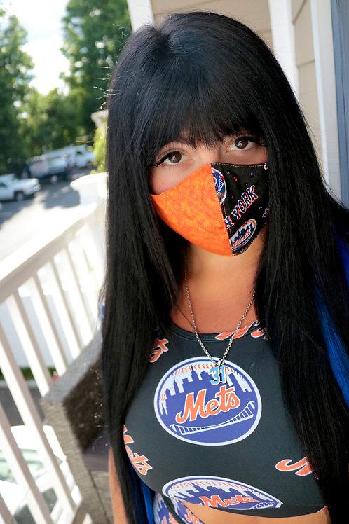 Mets/Orange Bling Mask