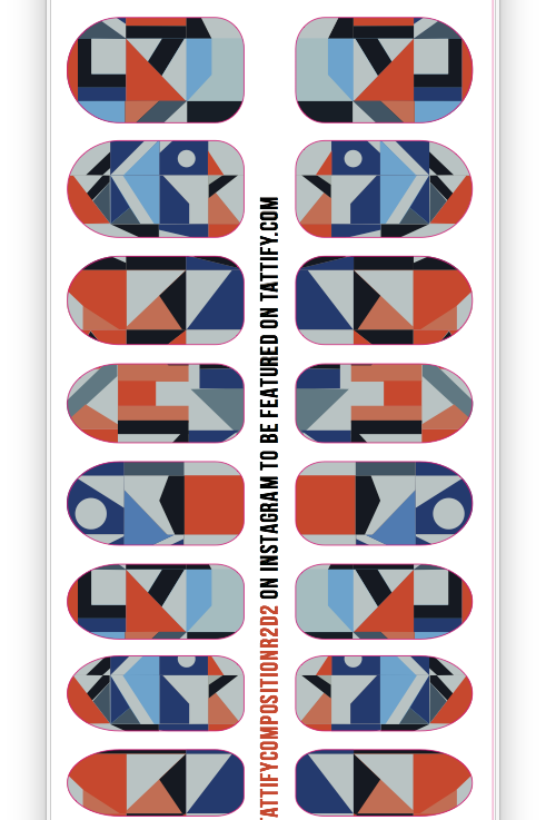 Nail Stickers (Composition R2D2)
