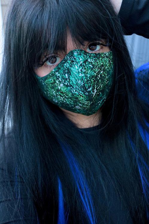 Green Galaxy Bling Mask
