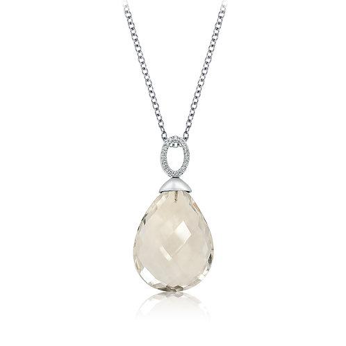 CP3285G rose quartz/white gold