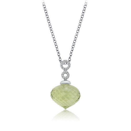 CP3275G green amethyst/white gold