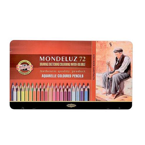 Crayons de couleur Mondeluz - 72 couleurs