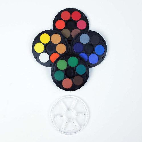 Aquarelle d'étude - boîte de 24 couleurs