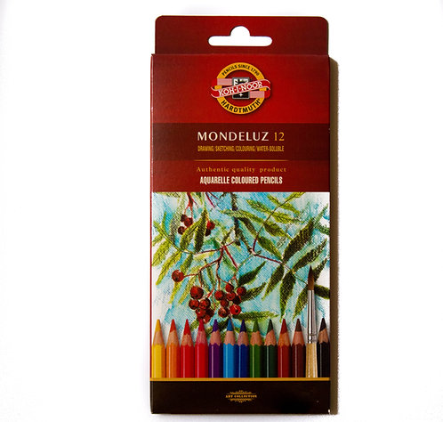 Crayons aquarellables - Mondeluz - étuis carton