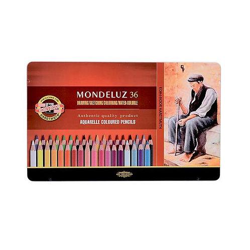 Crayons de couleur Mondeluz - boîte de 36