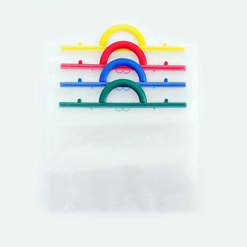 Pochettes plastiques - anses couleur - A4+