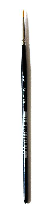 Pinceaux pointe ronde - poil synthétique -n°00 à n°12