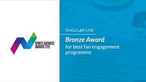 Singular Wins at Sports Business Awards