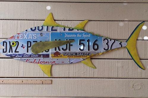 License Plate Tuna (2.5 feet) #6