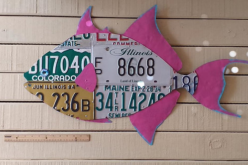 License Plate trigger Fish (2.5 Feet) #5