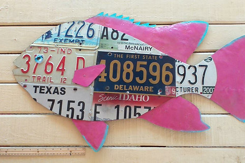 License Plate Fish #7