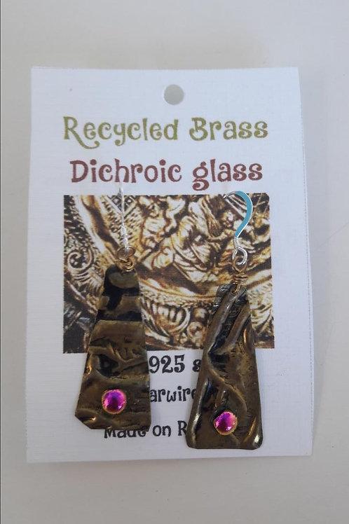 Dichroic Glass Earrigns