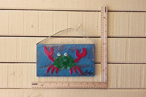 Magenta Claw Seaglass Crab