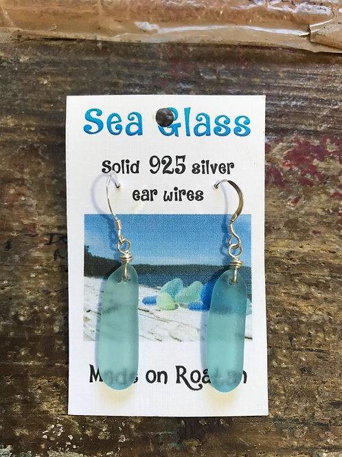Sea Glass Earrings (Aquamarine)