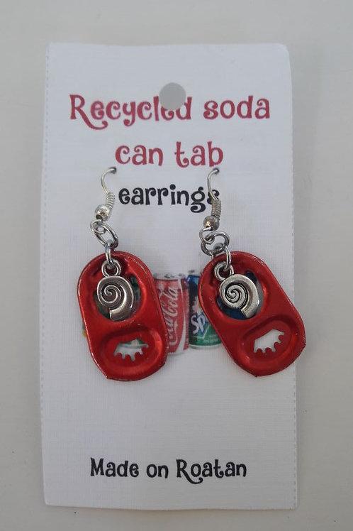 Soda Can Tap Earrings (pewter charm)