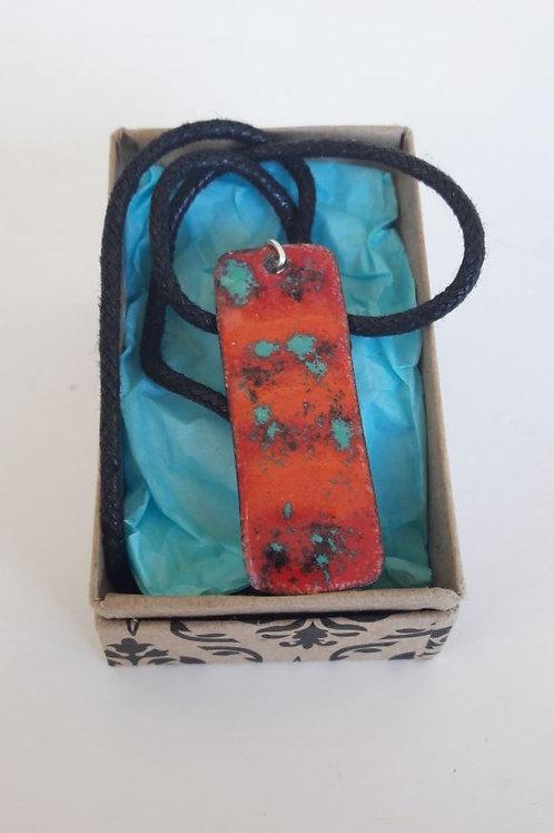 Enamel Glass Necklace #2
