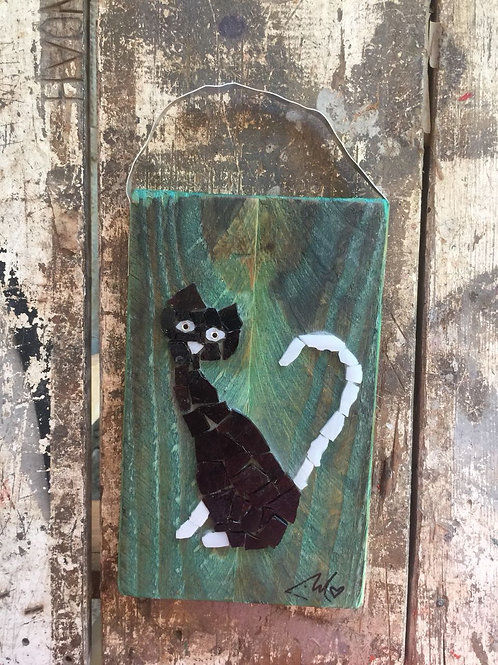 Stained Glass Cat #2