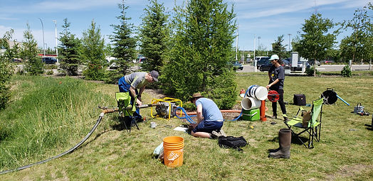 Waterline supported a U of C Department of Geology and Geophysics Research Project to determine the recharge potential of a low impact development system in Okotoks