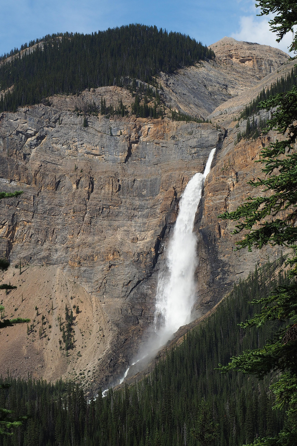 takakkaw falls waterline