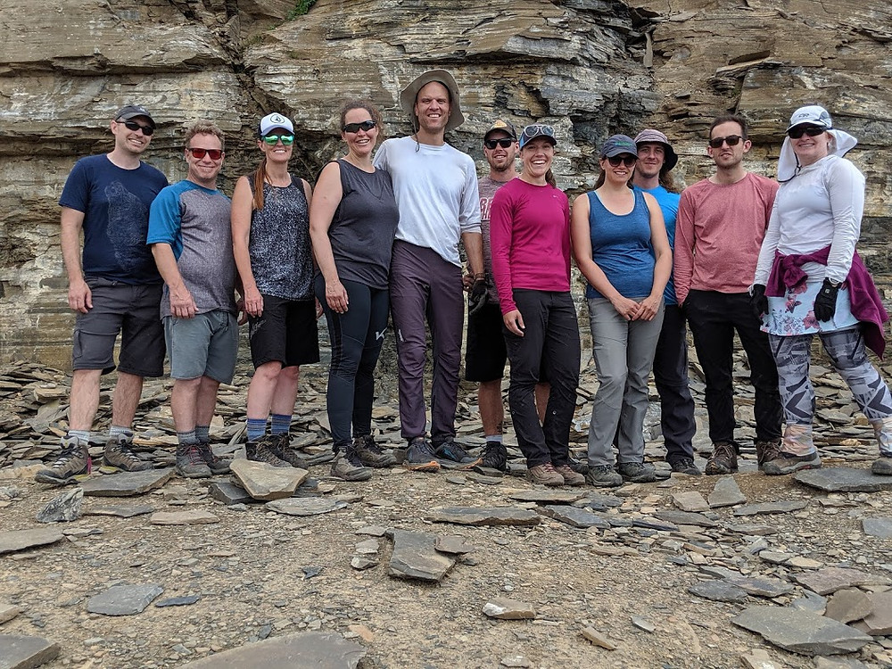 Burgess Shale Quarry Group Shot