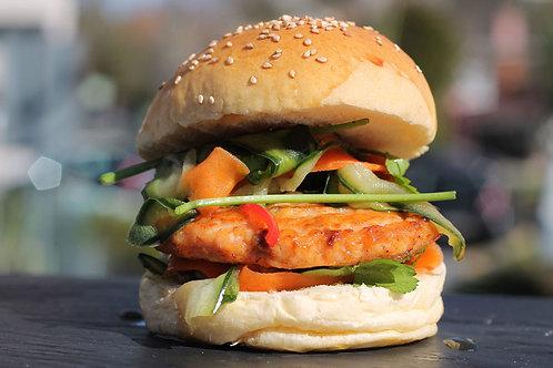 Burger de SALMÃO | congelado | 150g | 3 unidades