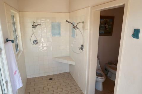 Master bedroom walk in shower