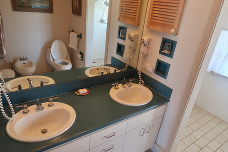 Master bedroom sinks and toilet
