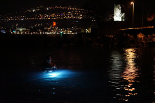 Baignade de nuit à la Tour-de-Peilz