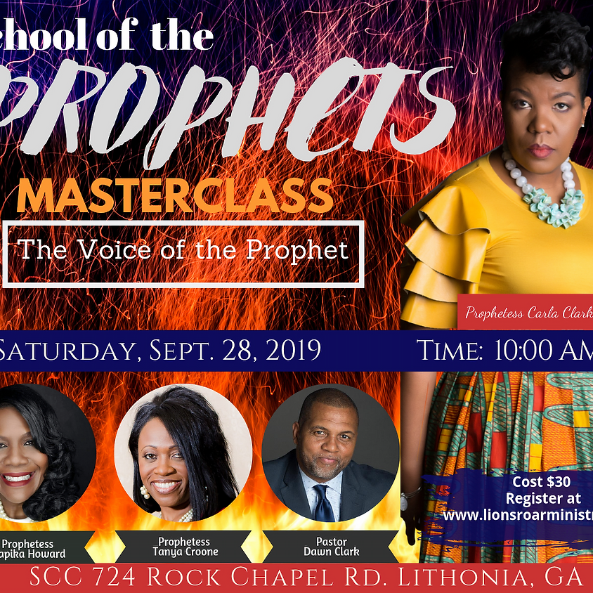 School of the Prophets Masterclass:  The Voice of the Prophet