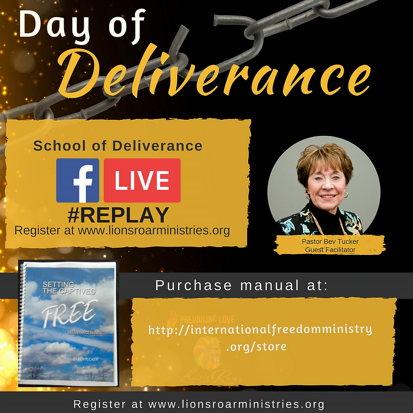 Day of Deliverance FB Live Replay